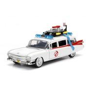 GHOSTBUSTERS Auto Ambulanza ECTO-1 Modello 22cm Scala 1/24 DieCast METALLO Originale JADA TOYS