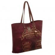 HARRY POTTER Borsa Grande 49x32cm SHOPPING Tote Bag LISTA PER SCUOLA Magia HOGWARTS Originale