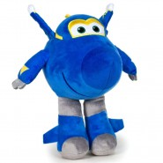 SUPER WINGS Plush JEROME Plane BLUE Robot 20cm Original OFFICIAL