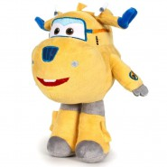 SUPER WINGS Plush DONNIE Plane YELLOW Robot 20cm Original OFFICIAL