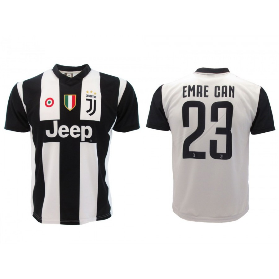new product a70f0 6542f New EMRE CAN Number 23 JUVENTUS 2018/2019 T-Shirt Jersey HOME Official  Replica