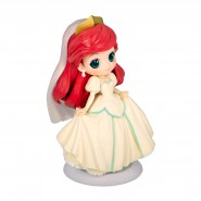 Figure Statue 14cm ARIEL Wedding Dress Beige QPOSKET Banpresto DISNEY Version A