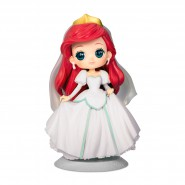 Figure Statue 14cm ARIEL Wedding Dress White QPOSKET Banpresto DISNEY Version B