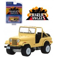 CHARLIE'S ANGELS Modello DieCast JEEP CJ-5 di JULIE ROGER Scala 1/64 ORIGINALE Greenlight