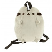 School Backpack PUSHEEN Cat GREY Soft PLUSH 32x27cm ORIGINAL