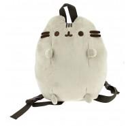 Zaino PUSHEEN Gatto GRIGIO Morbido Peluche 32x27cm ORIGINALE Backpack