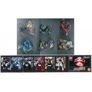 Rare SET 6 Figures Model Robot GUNDAM Serie PART 6 BANDAI Gashapon