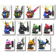 RARO SET 12  TRADING FIGURES Statuette Teste GUNDAM HEAD Serie 5 Original BANDAI Giappone