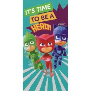 Beach Towel PJ MASKS Time To Be A Hero 140x70cm ORIGINALE