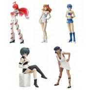 Set 5 Figure Collezione GAINAX Gals GIRLS PART 3 Nadia Evangelion etc. Originali BANDAI Giappone