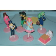 LAMU Urusei Yatsura RARO SET 5 FIGURE Collezione HG PART 3 Bandai Gashapon JAPAN