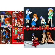 RARO Set 8 Figure EVA GIRLS Evangelion Gals BEST COLLECTION Gainax Originali BANDAI JAPAN Gashapon