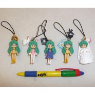 LAMU Urusei Yatsura RARE SET 6 FIGURES HG PART 3 Collection Bandai Gashapon JAPAN