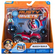 RUSTY RIVETS Playset Personaggio con Veicolo BUGGY BUILD Originale SPIN MASTER