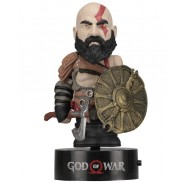 KRATOS Body Knocker SOLAR POWERED Figure 17cm (6.5'') From GOD OF WAR 8 2018 Original NECA
