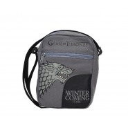 GAME OF THRONES Bag PENCIL CASE 2 Pockets WINTER IS COMING Stark 23x17cm ORIGINAL Official