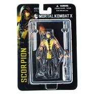 MORTAL KOMBAT X Figura Action SCORPION 10cm - Mano con catena e lancia Ufficiale MEZCO Toys NUOVA