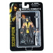 MORTAL KOMBAT X Action Figure SCORPION 10cm Hand with chain and spear Official MEZCO Toys NEW