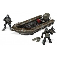 Building Playset RIB COSTAL ATTACK Assault Boat with 2 SUB SOLDIERs From Videogame COD Call Of Duty MEGA BLOKS