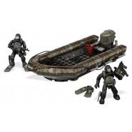 Playset Mattoncini RIB COSTAL ATTACK Gommone con 2 Soldati SUB da videogioco COD Call Of Duty MEGA