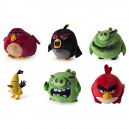 COMPLETE SET 6 Plush ANGRY BIRDS 12cm Characters RED, CHUCK, BOMB, PIG, LEONARD, TERENCE Original ROVIO Spin Master