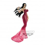 ONE PIECE Figura BOA HANCOCK 25cm Lady Edge Wedding Sexy ABITO ROSSO BANPRESTO Japan Versione B