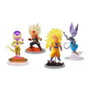 SET COMPLETO 4 Personaggi - UG Dragon Ball The Best 01 - Golden Freezer, Beerus, Bardock SS, Son Goku SS3