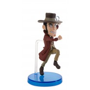 Figura LUPIN III 8cm -  ZAZA Zenigata che corre WORLD COLLECTABLE FIGURES Serie 1 WCF Banpresto