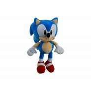 Peluche SONIC THE HEDGEHOG Riccio AZZURRO Classic Version GRANDE 28cm ORIGINALE Sega