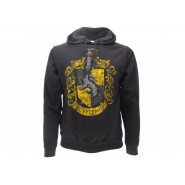 HARRY POTTER Hooded Sweatshirt HUFFLEPUFF House CREST Warner Bros Official Sweater HOODIE