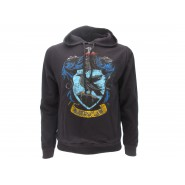 HARRY POTTER Hooded Sweatshirt RAVENCLAW House CREST Warner Bros Official Sweater HOODIE