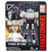 Modello Robot MEGATRON e DOOMSHOT 18cm TRANSFORMERS Generations Voyager TITANS RETURN HASBRO C0276 B7769