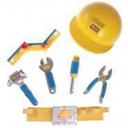 BOB THE BUILDER Set BELT with TOOLS and HELMET