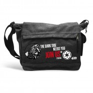"STAR WARS Borsa a Tracolla Due Tasche con Zip  ""Darth Vader Join Us"" 35x25x10 cm Originale Ufficiale"