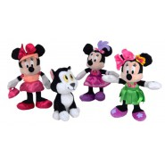 SET COMPLETO 4 Peluche 18cm MINNIE Vestiti Differenti e Gatto Figaro ORIGINALE Ufficiale DISNEY JUNIOR