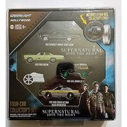 COLLECTOR SET 4 Model VARIATION Green Wheels Cars SUPERNATURAL Reel Series 5 1:64 Limited GREENLIGHT COLLECTIBLES HOLLYWOOD
