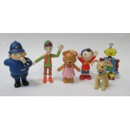 NODDY COMPLETE Set 6 FIGURES Noddy, Tessie Bear, Mr. Plod, Bumpy Dog, Sneaky, Genio 100% Original Concentra