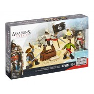 ASSASSIN'S CREED Battalion Playset PIRATE CREW PACK With 4 SOLDIERS Original Playset  MEGA BLOKS