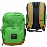 MINECRAFT School BROWN Bottom PIXELS BACKPACK Big 40x30cm Original OFFICIAL