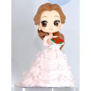 Figura Statuetta 14cm BELLE Bella e la Bestia Vestito Sposa Rosa QPOSKET Banpresto DISNEY Versione A