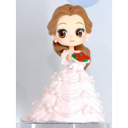 Figure Statue 14cm BELLE Wedding Dress Pink Beauty and the Beast QPOSKET Banpresto DISNEY Version A