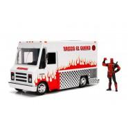 Modello TACO TRUCK dal film DEADPOOL Metallo DieCast  Scala 1/24 CON FIGURA Originale JADA Toys