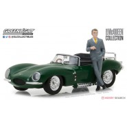 Modello DieCast Auto JAGUAR XKSS 1957 Con Figura STEVE McQUEEN Scala 1/43 ORIGINALE Greenlight