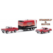 BOXED SET Car Models Ford GRAN TORINO 1976 With CAR HAULER Ford F-100 STARSKY and HUTCH Scale 1:64 Greenlight