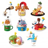 PEANUTS RARISSIMO Set Completo 8 FIGURE SNOOPY Dreamin Of Sweets