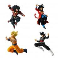 DRAGON BALL Set 4 FIGURES Dragonball VERSUS Super Battle 07 Bandai Gashapon Broly Dark Goku Black