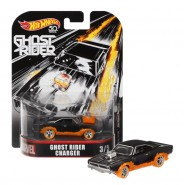 Modello Auto 8cm CHARGER da GHOST RIDER Scala 1/64 DieCast ORIGINALE Hot Wheels MARVEL FLD30