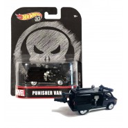 Modello Auto 8cm PUNISHER VAN Scala 1/64 DieCast ORIGINALE Hot Wheels MARVEL FLD29