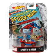 Modello Auto 6cm SPIDER-MOBILE Uomo Ragno Scala 1/64 DieCast ORIGINALE Hot Wheels MARVEL FLD31