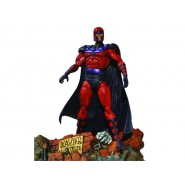 MARVEL SELECT Figura Action con Diorama MAGNETO 20cm ORIGINALE Diamond
